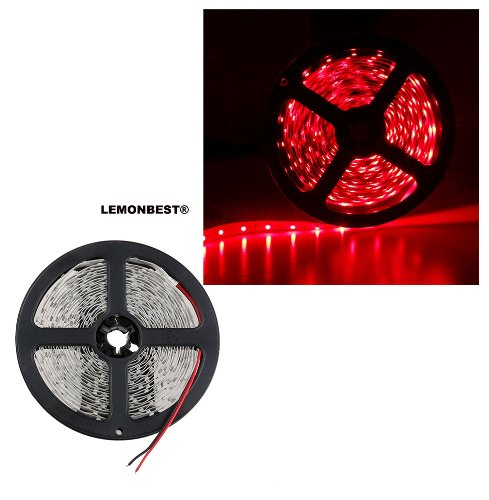 5M 300Leds 3528 Non-Waterproof Flexible Red Strip Light Strip 12V 60Leds/Meter House Ceiling Decoration Lighting _ Lemonbest