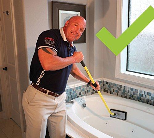 Clean bath tub pool kitchen around toilet tub floor porcelain ceramic