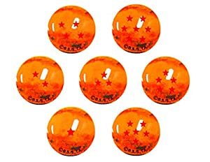 Canicas Dragonball Z, 7 bolas de cristal 22mm con