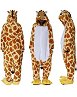 Outdoor Top Polar Fleece Unisex Giraffe Onesie Cosplay Costume Hoodies/Pyjamas/Sleep Wear