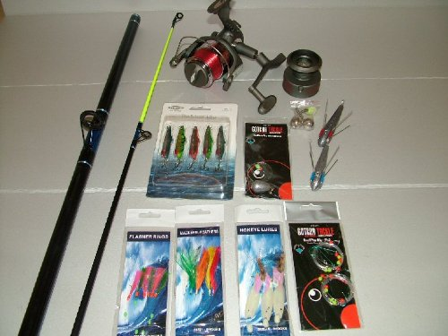SFE Sea Fishing Beach / Pier Kit - Rod Reel Line & Tackle - Comple sea angling kit