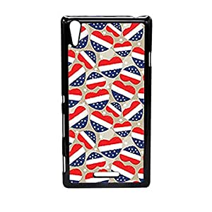 Vibhar printed case back cover for Sony Xperia T3 4thJulyHearts