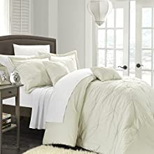 Chic Home 5-Piece Arabella Floral Quilted Applique Comforter Set King Beige