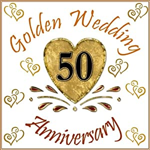 golden wedding anniversary cake topper 50th anniversary