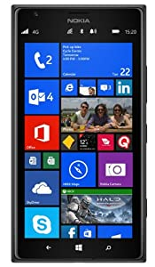 Nokia Lumia 1520 GSM Unlocked RM-937 4G LTE 16GB Windows 8 Smarphone - Black - International Version No Warranty