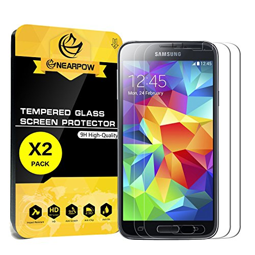 2-Pack-Samsung-Galaxy-S5-Screen-Protector-Nearpow-Tempered-Glass-Screen-Protector-with-9H-Hardness-Crystal-Clear-Easy-Bubble-Free-Installation-Scratch-Resist