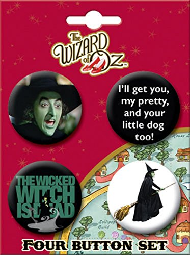 ATA-BOY Wizard of Oz Witch Button-Pin (4-Pack)