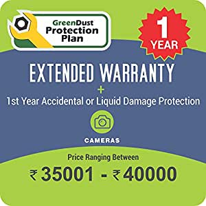 GreenDust Protection Plan for Cameras (Rs. 35001-40000), 1 year-Delivery by Email