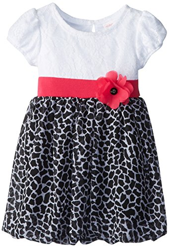Youngland Little Girls' Leopard Cap Sleeve Fashion Dress, Multi, 4T
