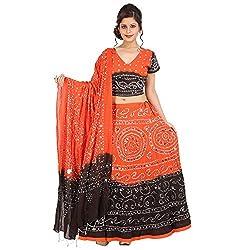 Kiran Udyog Stylish Multicolorcolor Cotton Handmade Bhandej & Sequin Work Lehenga Choli 721