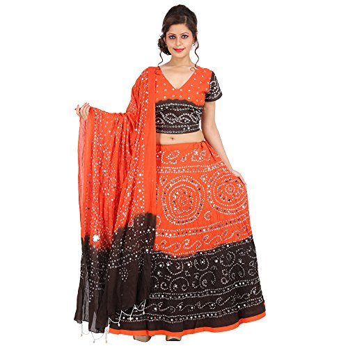 Kiran-Udyog-Stylish-Multicolorcolor-Cotton-Handmade-Bhandej-Sequin-Work-Lehenga-Choli-721