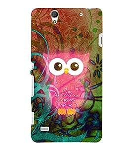 Pink Ullu Owl 3D Hard Polycarbonate Designer Back Case Cover for Sony Xperia C4 Dual E5333 E5343 E5363 :: Sony Xperia C4 E5303 E5306 E5353