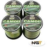 Carp & Coarse Fishing Line Camo Colour available in 8lb 10lb 12lb 15lb Breaking Strain