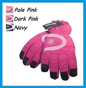 Ladies / Womens Ski Gloves with Thinsulate Fleece Lining - Navy Blue
