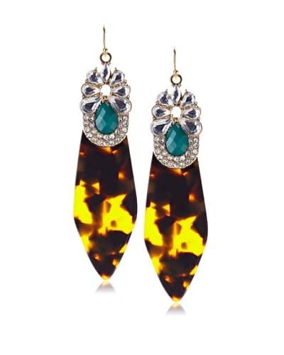 Sparkling Sage Arrow Shape & Stone Drop Earrings