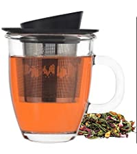 GROSCHE Aspen Tea Infuser Mug with Removable Stainless Steel Infuser and Lid, including Lid holder - 400 ml