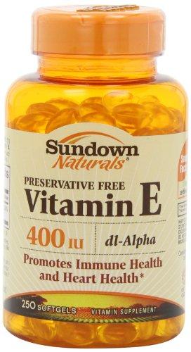 Sundown E-400 Iu Dl-Alpha Synthetic Softgels, 250 Count