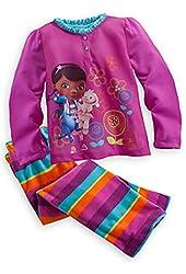 Disney Doc McStuffins & Lambie 2-Piece Sleep Set Pajama for Little Girls Size 4