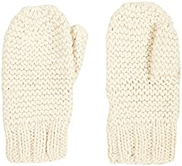 2H Hand Knits Baby Girls\' Striped Mittens  - Natural - S (1-2 Years)
