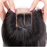 Youth Beauty® Human Hair Silky Straight 3 Way Part Lace Closure(4*4) with Baby Hair Bleached Knots Swiss Lace Top Closure Natural Color 10