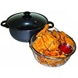 Excelsteel 4 Quart Carbon Steel Non Stick All In One Deep Fryer And Dutch Oven