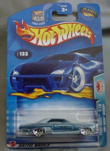 Hot Wheels 2003 Pride Rides 1/10 1964 Buick Riviera #133 BLUE - 1