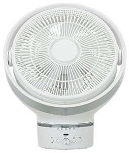 kamomefan(カモメファン) 25cm サーキュレーター ホワイト DCモーター フルリモコン式 風量無段階切替え アロマケース 減光機能付き