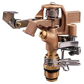 Orbit Sprinkler System 1/2-Inch Brass Impact Head with 25-40-Foot Coverage 55032