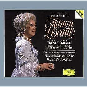 Puccini: Manon Lescaut / Act 2 - Che ceffi son costor?...Sulla vetta tu del monte (Madrigale) (Lescaut, Manon, Voce sola, 'Coro')