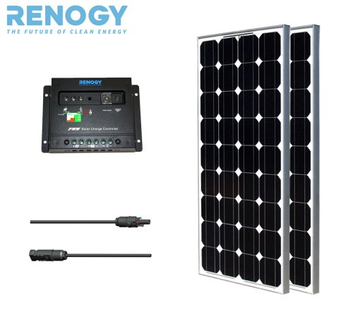 Black Friday 2013 Eco Solar Panel Kit 200W Mono: 2 Pcs 100w Solar Panels+MC4 ADAPTOR KIT+PWM 30A Charge Controller