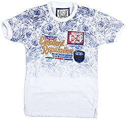 Fresh Sports Boys' Cotton T-Shirt (4-5 Years, White)