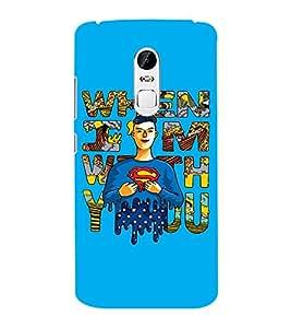 EPICCASE Superheros love Mobile Back Case Cover For Lenovo Vibe X3 (Designer Case)