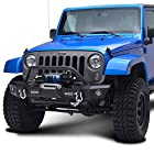 E-Autogrilles 07-15 Jeep Wrangler JK Offroad Front Bumper with LED Lights (51-0331)