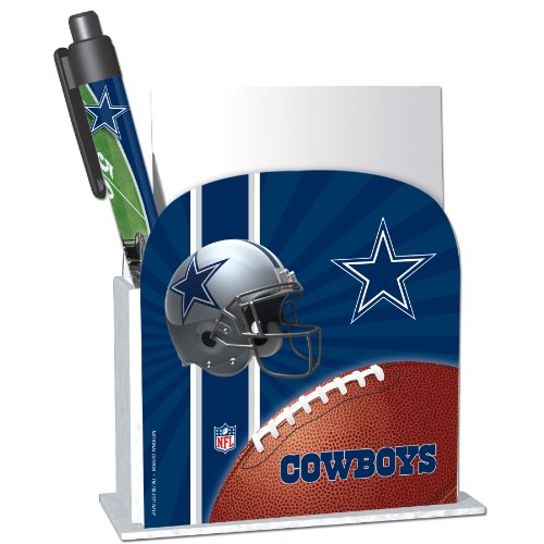 Dallas Cowboys Stationery Desk Caddy with Matching Ballpoint Grip Pen - NFL (12019-QUG) at Amazon.com
