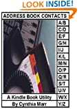 ADDRESS BOOK CONTACTS, A Kindle Book Utility