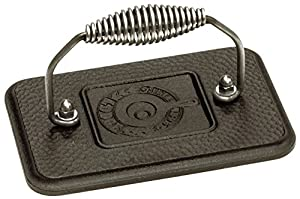 Lodge LGP3 Pre-Seasoned Rectangular Cast-Iron Grill Press