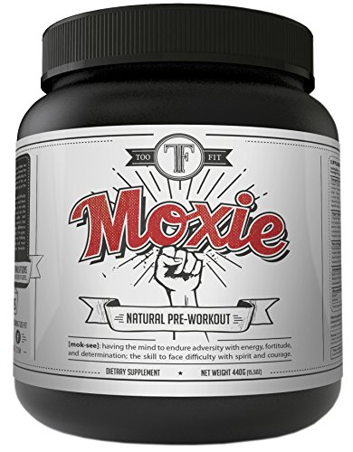 Too Fit Moxie Natural Preworkout Supplements with Creatine, Beta Alanine, BCAA's. Pre Workout Powder for Men and Women Best for Building Muscle, Inscreased Strength, Energy. Stimulant Free Paleo Vegan (Mass Peak Protein Powder compare prices)