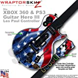 51kF4lSWsaL. SL160  Ole Glory (American Flag) WraptorSkinz Skin fits XBOX 360 & PS3 Guitar Hero III Les Paul Controller (GUITAR NOT INCLUDED)