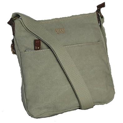 TROOP UNISEX CANVAS SHOULDER BAG, STONE: Amazon.co.uk ...