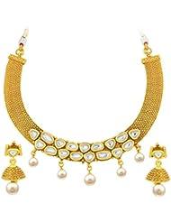 Sukkhi Divine Gold Plated Kundan Necklace Set For Women