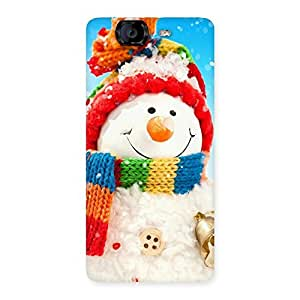 Enticing Snowman Multicolor Back Case Cover for Canvas Knight A350