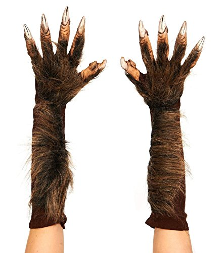 [Men's Wolf Gloves (Brown)] (Chimp Hands Costume)