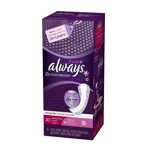 Always Fresh Xtra Protection Daily Liners, Clean Scent, Extra Long, 30 ea 30 ea