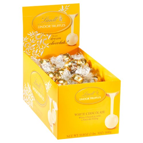 Lindt Lindor Truffles White Chocolate, 120-Count