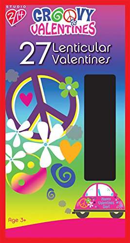 Paper Magic Groovy Valentine Lenticular Exchange Cards (27 Count)