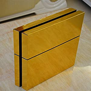 GOOOD PS4 Designer Skin Decal for PlayStation 4 Console System and PS4 Wireless Dualshock Controller - Gold
