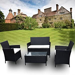 Garden Rattan Patio Furniture Sofa Chair Table Set Outdoor Lounger Conservatory