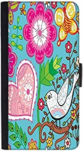 Snoogg Seamless Texture With Flowersdesigner Protective Flip Case Cover For H...