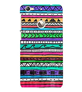 printtech Pattern Colored Back Case Cover for LeEco Le 1s Eco