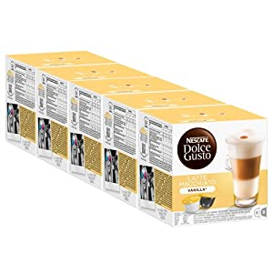 Get Nescafé Dolce Gusto Latte Macchiato Vanilla, Pack of 5, 5 x 16 Capsules (40 Servings) from Nestlé